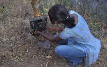 Malini setting Reconyx trail camera