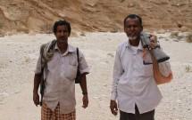 Mohsen and Ithnain in wadi near Fatk